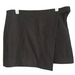 Kate Spade Saturday Black Buckle Over Wrap Skirt